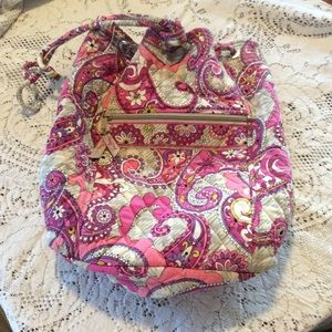Vera Bradley pink paisley backpack bag